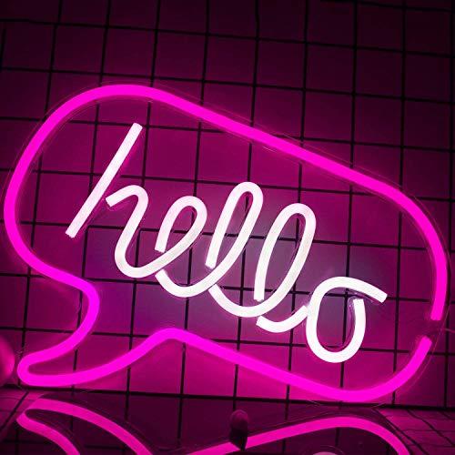 CNMGM Hallo Led Wortzeichen Neon Wort Buchstaben Licht Kinderzimmer Dekor Wand Dekor Für Baby Room Geburtstagsfeier, Wohnzimmer, Hochzeitsparty Liefert