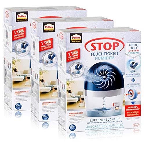 Henkel Pattex Stop Feuchtigkeit Aero 360° System Luftentfeuchter (3er Pack)