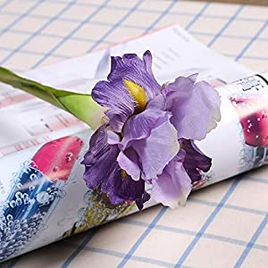 Silk Flower Arrangements Artificial and Dried Flower Artificial Iris Flower Brah Spring Wedding Decor Home Table Decoration Flores Silk Fake Flower Party Supplies