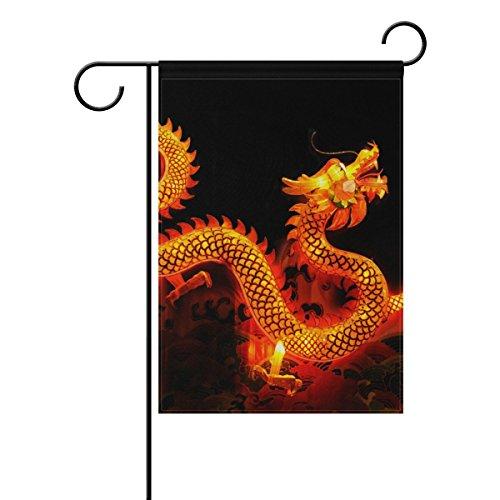 COOSUN chinesischen Drachen Laterne Polyester Garten Flagge im freien Flagge Home Party Garten Dekor, doppelseitig, 28 x 40