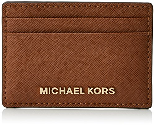 Michael Kors Money Pieces, Tarjetero para Mujer, Marrón (Luggage), 2.5x9.5x11.4 cm (W x H x L)