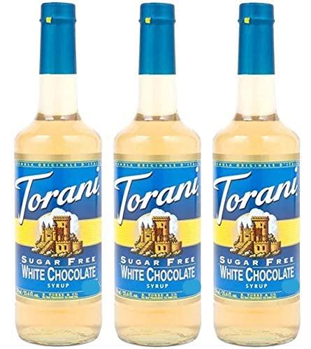 Torani Sugar Free White Chocolate Syrup 25.4-ounce Bottles (Pack of 3) by Torani
