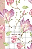 "Dual Notebook Journal: Flower Journal Half Graph Paper 5x5 (four squares per inch 0.20"" x 0.20"") And Half Blank Paper on the Same Page: Quadrille, ... Graph Grid, and Math Paper notebook Organizer"