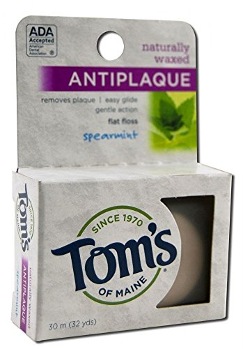 Tom's Of Maine Floss Anti-Plaque, Flat Spearmint 32 Yd (Pack of 3)