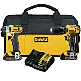 DEWALT 20V MAX Impact Driver and Drill Combo Kit...