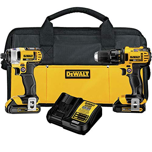 DEWALT 20V MAX Impact Driver and Drill Combo Kit (DCK280C2)