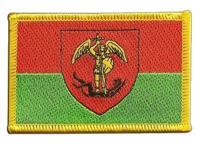 Aufnäher Patch Flagge Belgien Stadt Brüssel - 8 x 6 cm