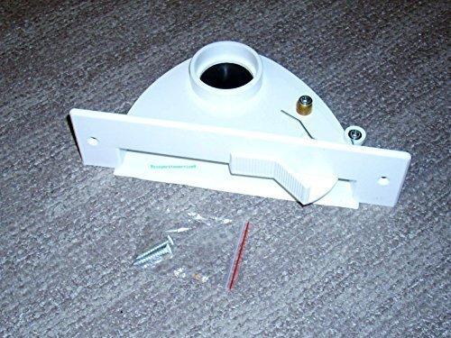 Zentralstaubsauger Einkehrdüse Kehrschaufel Kehrichtklappe in Weiß VacPan saugende Kehrschaufel mit Kippmechanik für BVC S-Serie/Compact-Serie/Junior-Serie geeignet