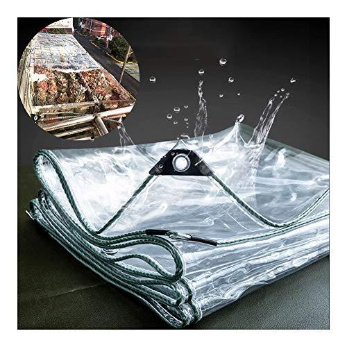 GYYARSX-Die Plane Transparent Plane Gewebeplane Schutzplane PVC Verdicken Schutz Vor Dem Regen Isolierung Plane Draussen Garten Gewächshaus, 17 Größen (Color : Clear, Size : 3.0X5.0M)