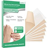 Silicone Scar Sheets, TEATTY Silicone Gel Scar Removal Sheets 7PCS Scar Reducing Tape for Face Body Caused by C-Section Injury Keloid Surgery and More, Reusable Scar Treatment Sheets, 5.9'2.3'