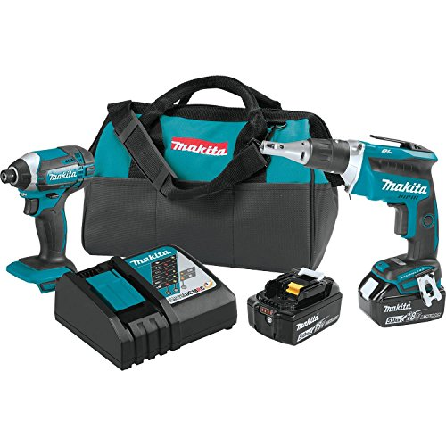 Makita XT262T 18V LXT Lithium-Ion Cordless 2-Pc. Combo Kit (5.0Ah), 90 W, 18 V
