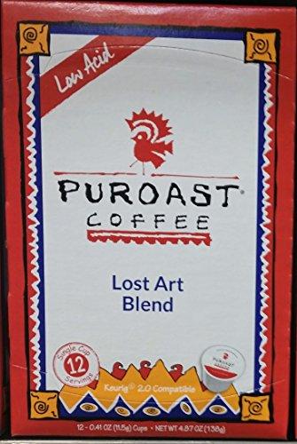 Puroast Low Acid Coffee Single-Serve Keurig K-Cup Pods, Medium Roast, High Antioxidant (12 Count)