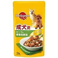 MARS ペディグリーウェット パウチ 成犬用 旨みビーフ&緑黄色野菜とチーズ入り 130g [P103]