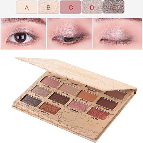 14 Colores Paleta de sombra de ojos mate, Sombra de ojos maquillaje cosméticos resplandecer