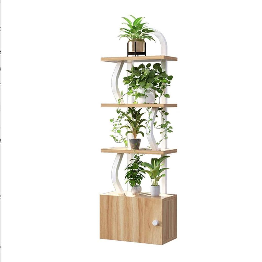 応用私ツイン屋内用リビングルーム用フロアスタンドフラワースタンド植物ラックホーム多層ポットラック