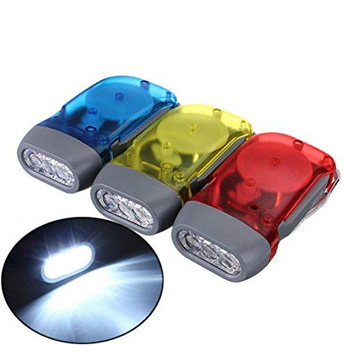 Bazaar 3 LED Dynamo Wind Up-Hand-betätigende Kurbel-Taschenlampe