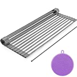 Dish Drying Rack, ZealBea Focus Enrollable Escurreplatos Acero Inoxidable para...