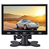 Monitor de 7 pulgadas, pequeño monitor de seguridad portátil, pantalla LCD alimentada por USB con entrada AV VGA HDMI, botones táctiles, altavoces integrados, mando a distancia para Raspberry Pi