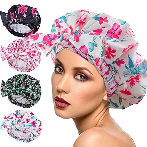 Gorra de ducha femenina, impermeable, reutilizable,...