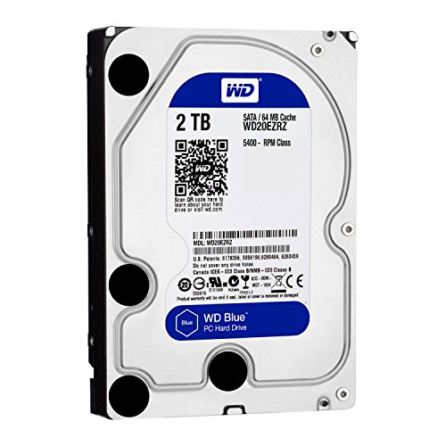 Blu SATA 64MB-600 hard disk Western Digital 3.5 '2TB Caviar interna