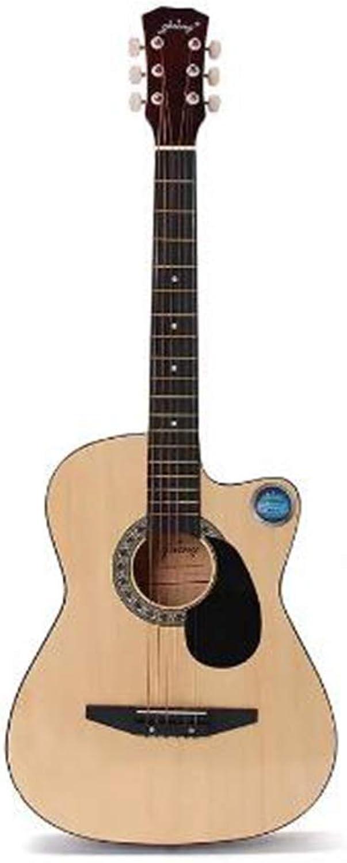 LaDicha 38 Zoll Holz Volkskorbgitarre 6 Farbgitarre Mit Tasche Für Anfnger - Das Holz