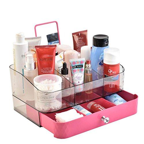 Coffrets de maquillage Type de tiroir Boîte de Rangement de cosmétiques Coiffeuse Tables Bureau cosmétique Boîte de Rangement Salle de Bain étagère