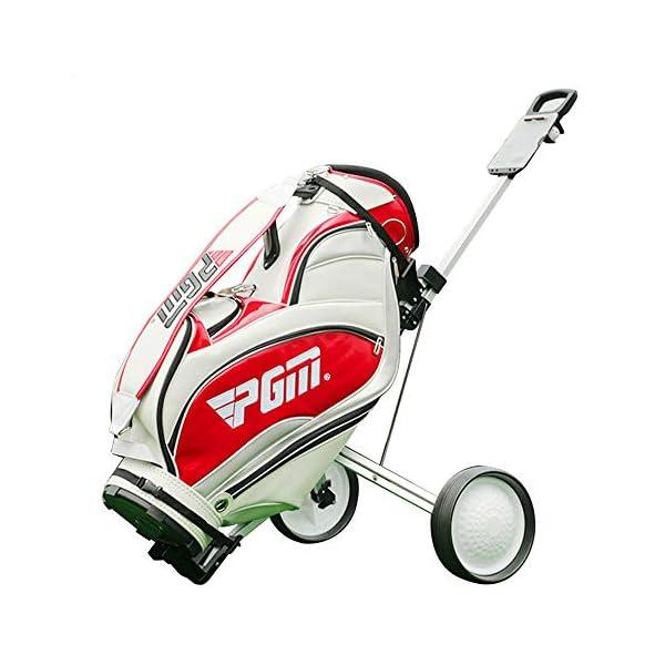 HJJGRASS-PGM-Golf-Chariots-Manuels-Trpieds-Deux-Roues-Chariot-Pliable-Main-Push-Pull-Ball-Panier-De-Golf-Fournitures