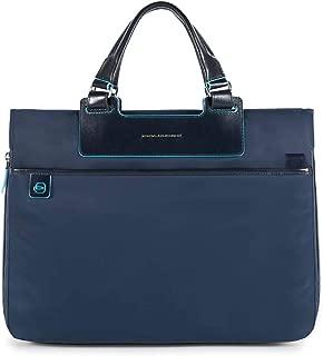 Bleu nuit CA4021B2 Piquadro Blue Square Petite serviette extensible porte-ordinateur avec compartiment pour iPad/®Air//Pro 9,7