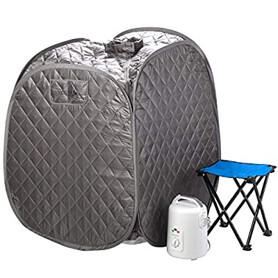 Durasage Personal Foldable Steam Sauna for Weight Loss, Detox & Relaxation at Home, Chair Included