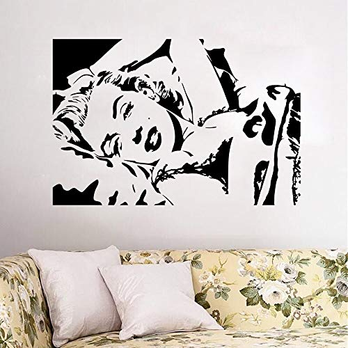 Sexy Goddess Woman Hollywood Movie Star Marilyn Monroe Wall Sticker Vinyl Art Decal Bedroom Living Room Beauty Salon Club Studio Home Decor Mural