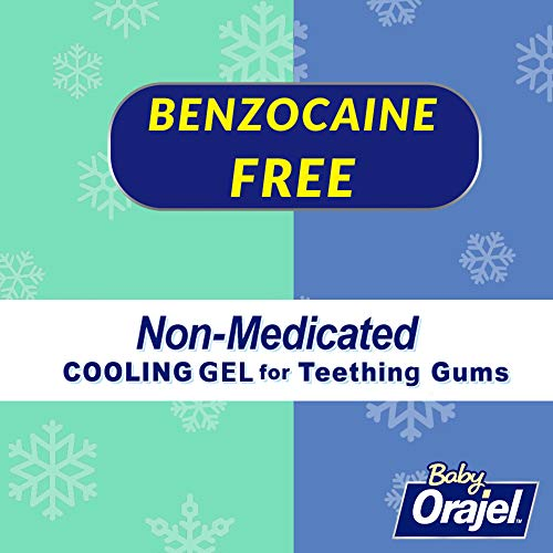 Benzocaine Free Orajel Baby Daytime & Nighttime Non-medicated Cooling Gels for Teething