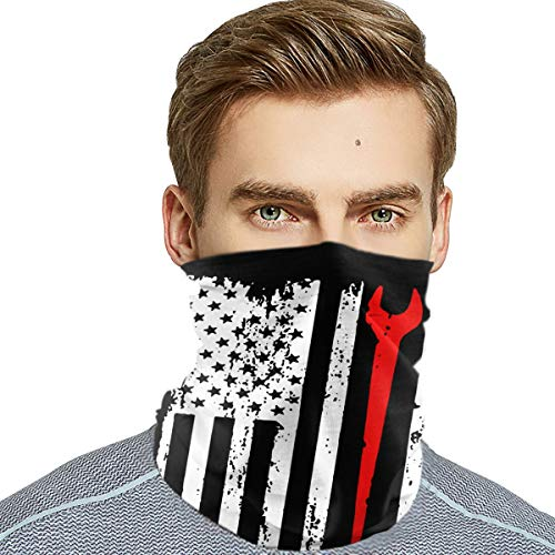 Ironworker Profession USA Flag Unisex Outdoor Sport Scarf Headbands Bandana Mask Neck Gaiter Head Wrap Sweatband Headwear