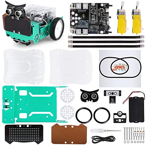 ELEGOO Smart Owl Robot Car Kit con Nano V4, sensore a...