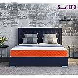 SleepX-Dual 6 Dual mattress - Medium Soft and Hard (75*60*6 Inches), Orange