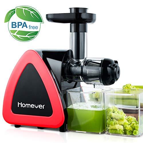 Extracteur de Jus, Homever Sans BPA Extracteur de Jus de Fruits et Légumes avec Moteur Silencieux et Fonction Inverse, et Livré...