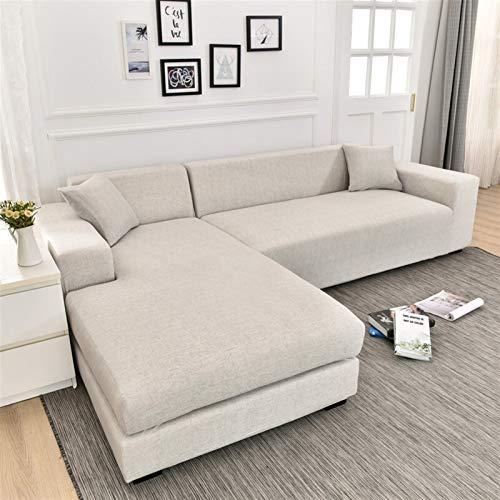 kengbi Strapazierfähiger und leicht zu reinigender Sofabezug Sofakissenbezug, quadratischer Gitterdruck, L-Form, Sofabezug für Wohnzimmer, Anti-Staub, elastische Stretchbezüge für Ecksofa-Abdeckung