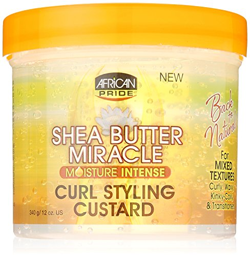 African Pride Shea Miracle Gel Définition Boucles Custard Karité Shea Butter Miracle
