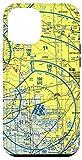 iPhone 12 Pro Max Aeronautical VFR Sectional Chart - Detroit Case