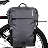 Rhinowalk Bike Bag Waterproof Pannier Backpack Convertible - 2 in 1 Bicycle Saddle Bag for Bike Commuting, Travel and Outdoor