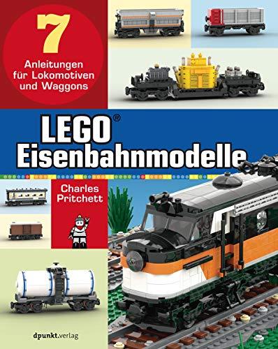 LEGO®-Eisenbahnmodelle: 7x Anleitungen für LEGO Lokomotiven und Waggons