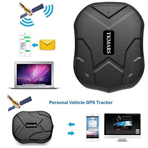 GPS Tracker Voiture TKMARS Traceur GPS localisateur Voiture GPS Traceur Véhicule en Temps Réel Traceur Antivol Voiture Moto Camion, traqueur GPS avec Un Aimant Fort Pas Installation 3 Mois de Veille