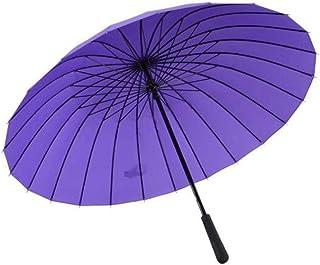 , Rain Umbrella Windproof Lightweight, Auto Open/Close Folding Umbrella, Rain Repellent Canopy, Newly Handle Umbrella (Color : Purple)