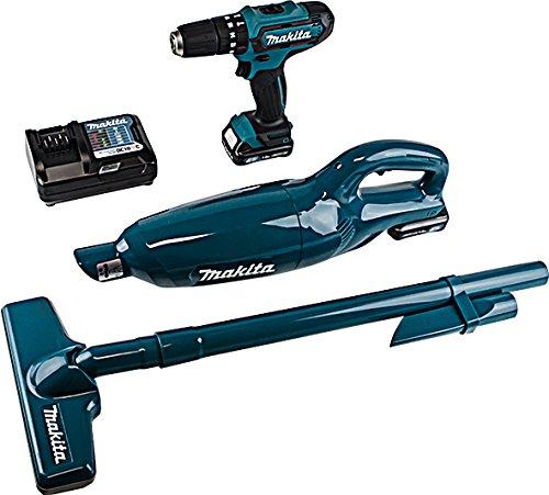 Makita CLX2141X1 Combi Kit, 10.8 V, Blue, 180 mm
