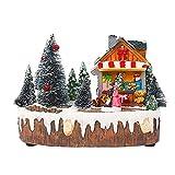 GDYJP Cabina de rotación del árbol de Navidad Que Brilla Luminoso de música House Music Escena de la Nieve for día la Amiga de San Valentín romántico (Color : B)