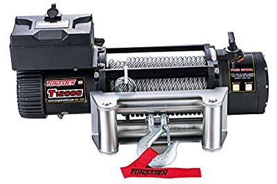 Tungsten4x4 Electric Utility Cable Winch with Roll Fairlead