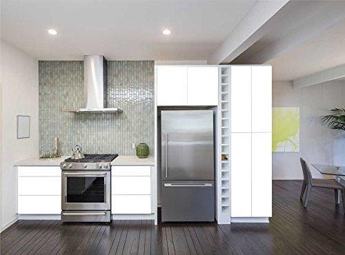 INDIGOS UG - Aufkleber für Küchenschränke 63x500cm - MATT - weiß - Folie aus hochwertigem PVC Tapeten Küche Klebefolie Möbel wasserfest für Schränke selbstklebende Folie Küchenfolie Dekofolie