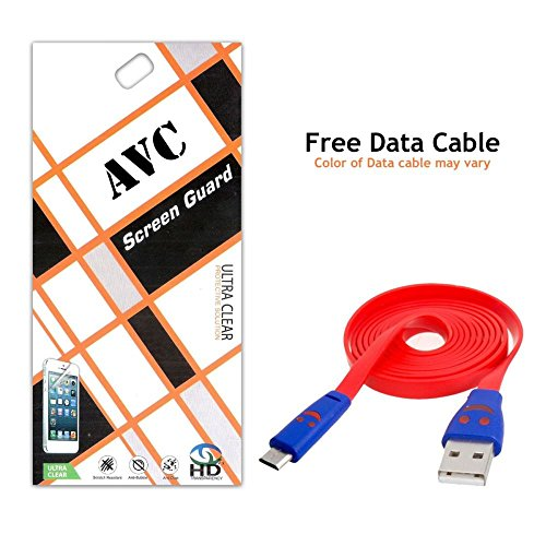 AVC Screen Protector Ultra Clear HD Japan PET with Free Data Cable for HTC Desire 620/620G Mobile Cell Phone (Clear)
