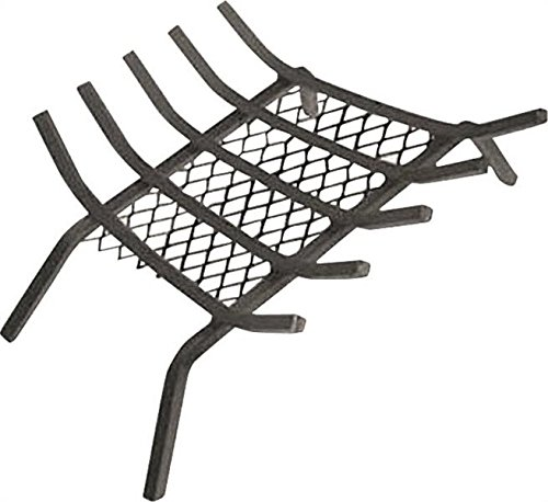 """Rocky Mountain Goods Fireplace Grate with Ember Retainer - 1/2"""" Heavy Duty Cast Iron -Heat treated for hottest fires - Retainer for cleaner more efficient fire - Weld has (27"""")"""
