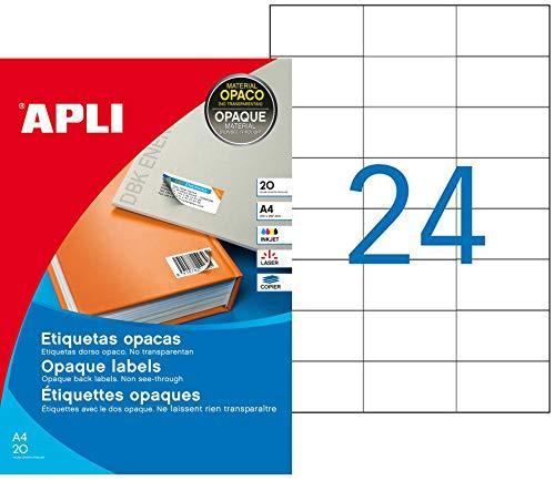 APLI 11708 - Etiquetas blancas opacas 70