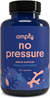 Amply Blends | No Pressure | Herbal Supplement | Nerve Support Capsules | 120-Count